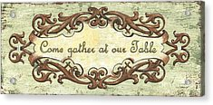 Come Gather At Our Table Acrylic Print by Debbie DeWitt