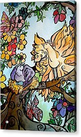 Come Grow Old With Me The Best Is Yet To Be Acrylic Print by Claudia Cole Meek
