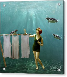 Come On Darlings It's Almost Dry Acrylic Print by Martine Roch