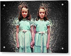 Come Play With Us - The Shining Twins Acrylic Print by Taylan Apukovska