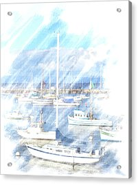 Come Sail With Me Acrylic Print by Barbara MacPhail