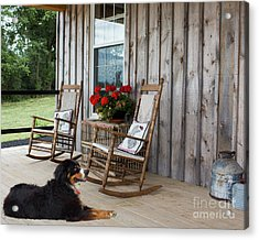 Come Sit A While Acrylic Print