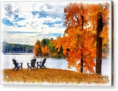 Come Sit For A While Acrylic Print by Edward Fielding