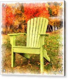 Come Sit For Awhile Square Acrylic Print by Edward Fielding