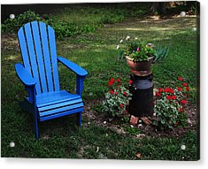 Acrylic Print featuring the photograph Come Sit  by Joanne Coyle