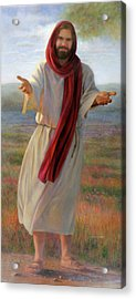 Come Unto Me Full-length Acrylic Print by Nancy Lee Moran