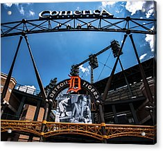 Acrylic Print featuring the photograph Comerica Park by Onyonet  Photo Studios