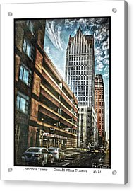 Comerica Tower Acrylic Print by Donald Yenson