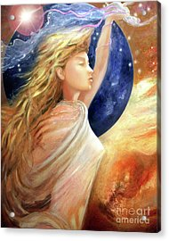 Acrylic Print featuring the painting Comet Dreamer Ascend by Michael Rock