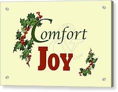 Comfort And Joy Acrylic Print