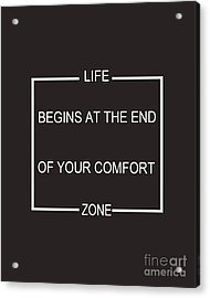 Comfort Zone Acrylic Print by Pati Photography