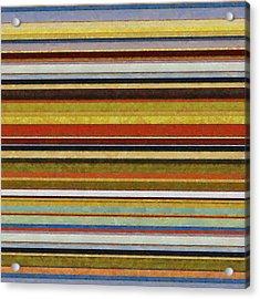 Comfortable Stripes Vl Acrylic Print by Michelle Calkins