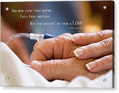 Comforting Hand Of Love Acrylic Print