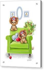 Comfy Chair Acrylic Print by Catia Cho