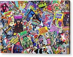Comic Books Acrylic Print by Tim Gainey
