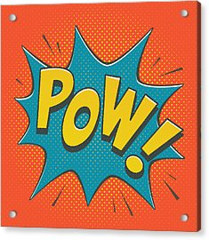 Comic Pow Acrylic Print by Mitch Frey