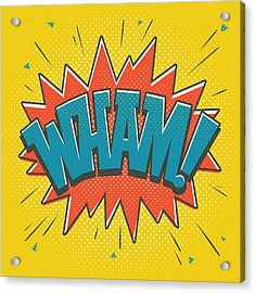 Comic Wham Acrylic Print by Mitch Frey