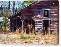 Coming Apart With Character Barn Acrylic Print