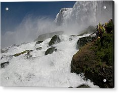 Acrylic Print featuring the photograph Coming Close To Niagara Falls by Jeff Folger