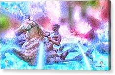 Coming From Deep Waters - Da Acrylic Print