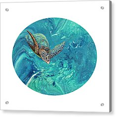 Acrylic Print featuring the painting Coming Out Of The Depths by Darice Machel McGuire