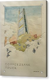 Commerzbank Frankfurt Acrylic Print by Juan  Bosco