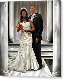 Commissioned Wedding Portrait  Acrylic Print by Reggie Duffie