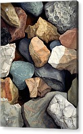 Common Stone Acrylic Print by Craig Gallaway