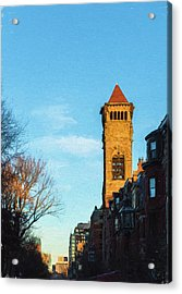 Commonwealth Avenue In Boston Acrylic Print