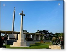 Commonwealth War Graves Commission Kranji Memorial Cemetery Monument Singapore Acrylic Print