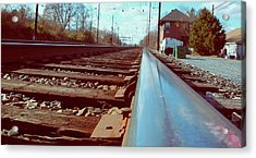 Commuter Train Tracks, Downingtown, Pa. Acrylic Print