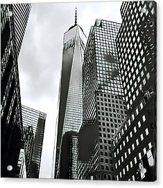 Commuters' View Of 1 World Trade Center Acrylic Print