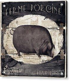Compagne II Pig Farm Acrylic Print