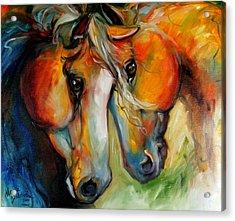Companions Equine Art Acrylic Print