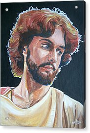 Acrylic Print featuring the painting Compassionate Christ by Bryan Bustard