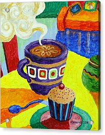 Complementary Coffee 1 Acrylic Print by Paul Hilario