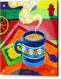 Complementary Coffee 2 Acrylic Print by Paul Hilario