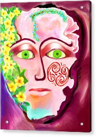 Acrylic Print featuring the painting Complete - A Mask by Shelley Bain