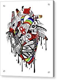 Complex Pride Heart Acrylic Print