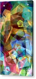Acrylic Print featuring the digital art Complicated Sunset by Rafael Salazar