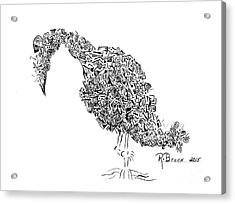 Component Bird Acrylic Print by Ronda Breen