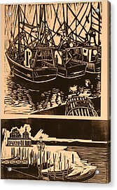 Composite Of Two Woodcuts Acrylic Print by Biagio Civale