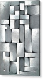 Composition In Gray, Rag-time Acrylic Print