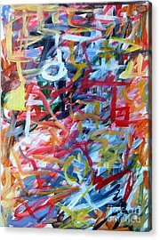 Composition No. 11 Acrylic Print by Michael Henderson