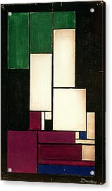 Composition Acrylic Print by Theo van Doesburg