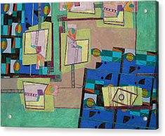 Composition Xxii 07 Acrylic Print by Maria Parmo