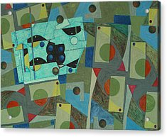 Composition Xxv 07 Acrylic Print by Maria Parmo