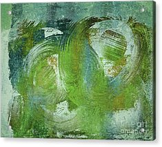 Composix - V55a - Green Acrylic Print by Variance Collections