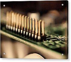 Computer Board Gold Pins Acrylic Print