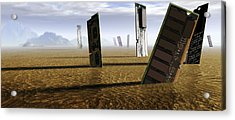 Computer Circuit Board Graveyard Acrylic Print by Tim Vernonlth Nhs Trust